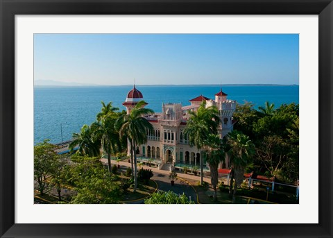 Framed Valle's Palace, Cienfuegos, Cuba Print