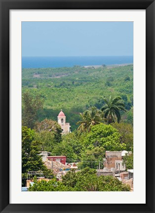 Framed Cuba, Trinidad from Palacio Brunet tower Print