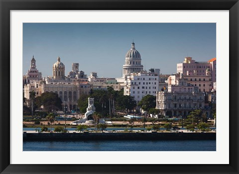 Framed Cuba, Havana, Elevated City View Print