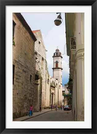 Framed Cathedral of Havana in the historic center, UNESCO World Heritage site, Cuba Print
