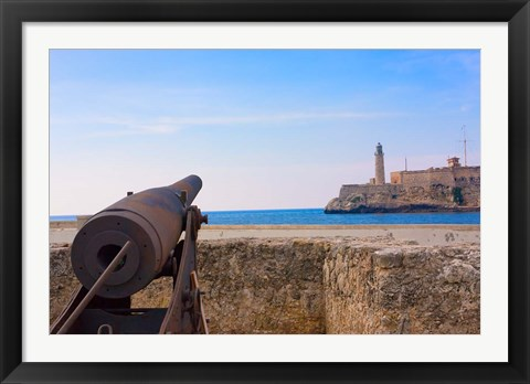 Framed Seawall, El Morro Fort, Fortification, Havana, UNESCO World Heritage site, Cuba Print
