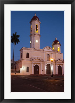 Framed Cuba, Catedral de Purisima Concepcion cathedral at dusk Print
