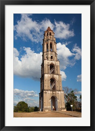 Framed Cuba, Manaca Iznaga, Sugar plantation tower Print