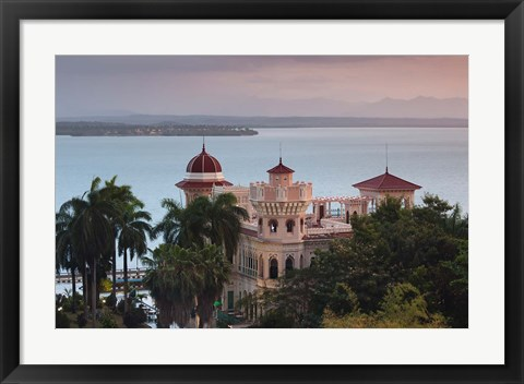 Framed Cuba, Punta Gorda, Aerial view of Palacio de Valle Print