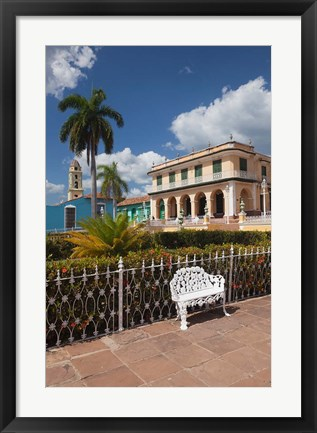Framed Plaza Mayor, Cuba Print