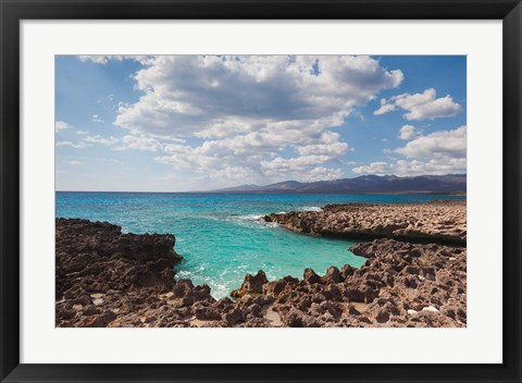 Framed Cuba, Trinidad, Playa Ancon beach, ocean cove Print