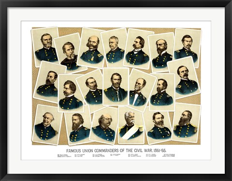 Framed Famous Union Commanders Print