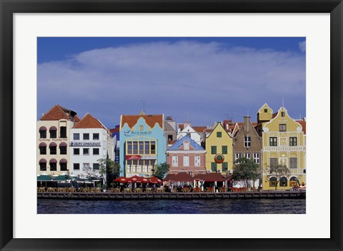 Framed Dutch Gable Architecture of Willemstad, Curacao, Caribbean Print