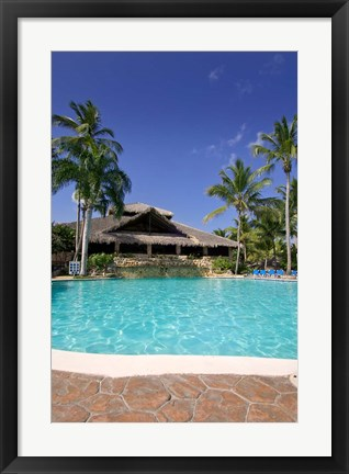 Framed Dominican Republic, Viva Wyndham Dominicus Beach Print