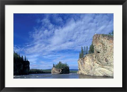 Framed Five Fingers Rapids on Yukon River, Yukon, Canada Print