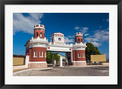 Framed Cuba, Castillo de San Severino fortification Print