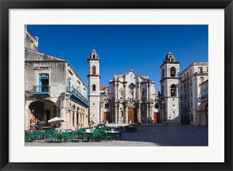 Framed Cuba, Cathedral, Catedral de San Cristobal Print