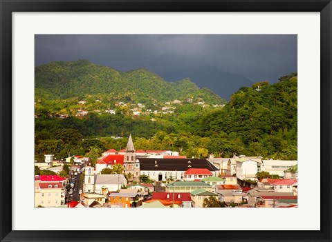 Framed Stormy sky, Roseau, Dominica, West Indies Print