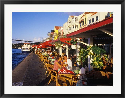 Framed Willemstad Waterfront, Curacao, Caribbean Print