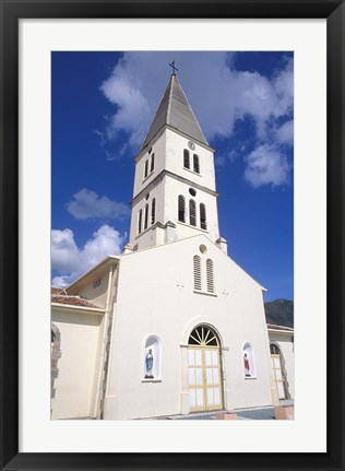 Framed St Henri Cathedral, Anse D'Arlet, Martinique, French West Indies, Caribbean Print