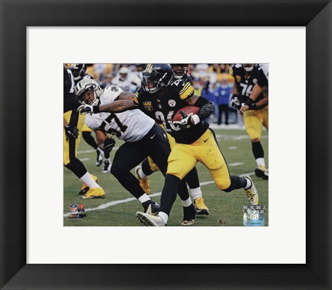 Framed Le'Veon Bell Pittsburg Steelers 2014 Print