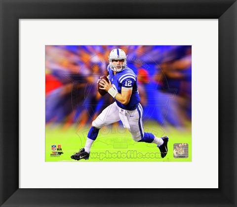 Framed Andrew Luck Motion Blast Print