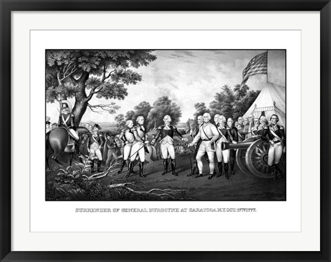 Framed Surrender of British General John Burgoyne at Saratoga Print