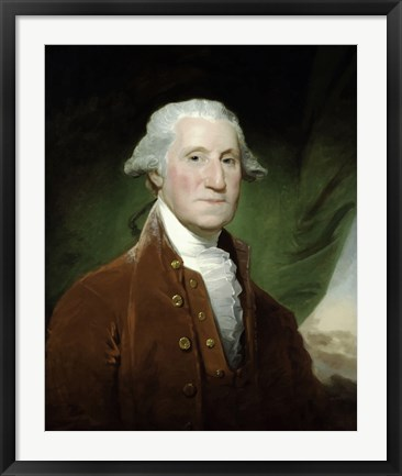 Framed Digitally Restored Vector Painting of George Washington Print