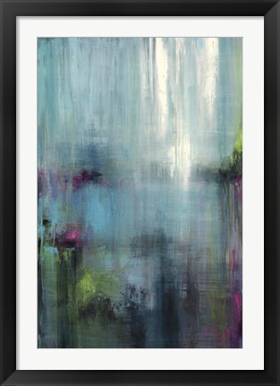 Framed Lily Reflections Print