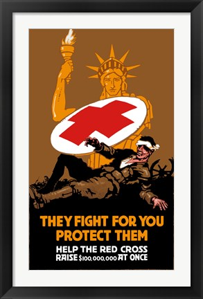 Framed They Fight for You, Protect Them Print