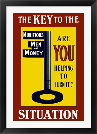 Framed Key to the Situation Print
