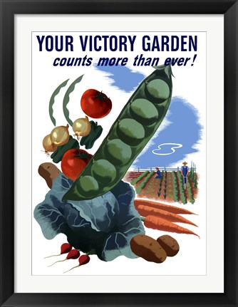 Framed Your Victory Garden Print