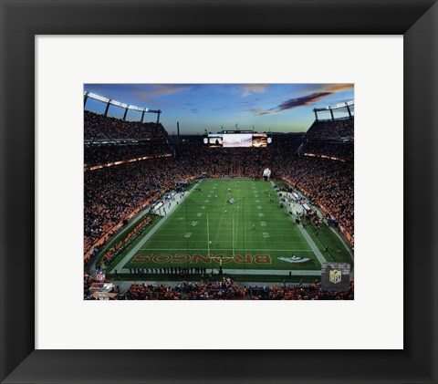 Framed Sports Authority Field at Mile High Stadium 2014 Print