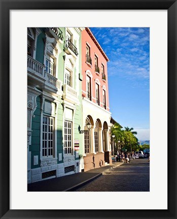 Framed Typical Colonial Architecture, San Juan, Puerto Rico, Print