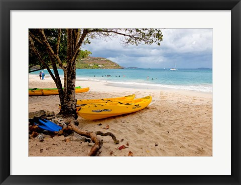 Framed Cinnamon Bay on the Island of St John, US Virgin Islands Print