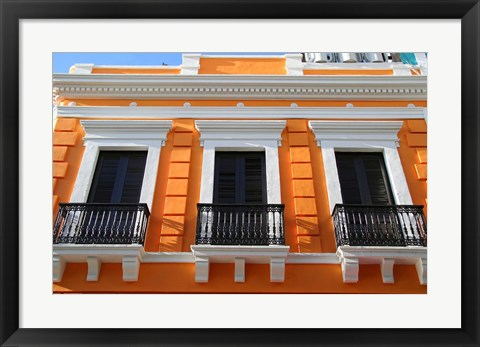 Framed Puerto Rico, Old San Juan, Colonial architecture Print