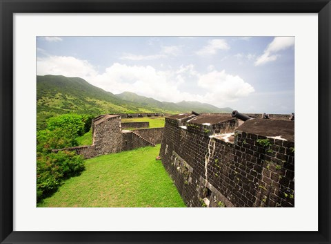 Framed Brimstone Hill Fortress, Built 1690-1790, St Kitts, Caribbean Print