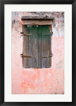 Framed Exterior of Building, St Pierre, Martinique, French Antilles, West Indies Print