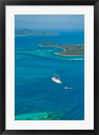 Framed Tobago Cays, St Vincent and the Grenadines Print