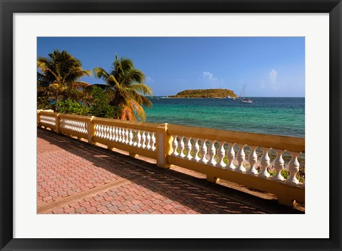 Framed Puerto Rico, Esperanza, Vieques Island and boats Print