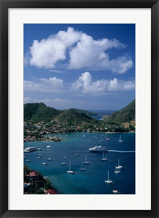 Framed French West Indies, Isle des Saintes, Bourg harbor Print