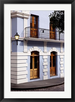 Framed Colorful buildings in old San Juan, Puerto Rico Print