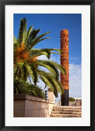 Framed Totem pole of native Indians, San Juan, Puerto Rico Print