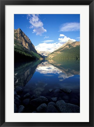 Framed Victoria Glacier and Lake Louise, Banff National Park, Alberta, Canada Print