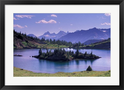 Framed Sunshine Region, Island lake, Banff National Park, Alberta, Canada Print