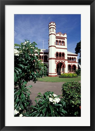 Framed Magnificent Seven Mansions, Port of Spain, Trinidad, Caribbean Print