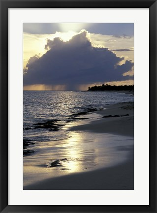 Framed Rouge Beach on St Martin, Caribbean Print