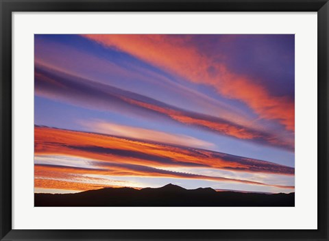 Framed Canada, Alberta, Burmis sunset over the Canadian Rocky Mountains Print