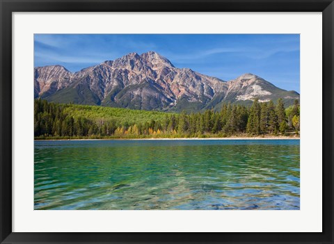 Framed Patricia Lake and Pyramid Mountain, Jasper NP, Alberta, Canada Print