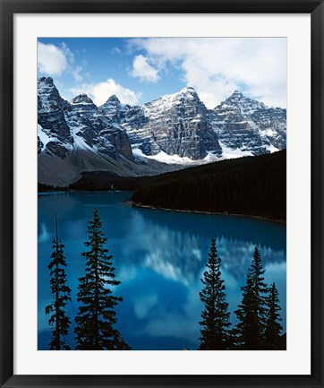 Framed Lake Moraine, Banff National Park, Alberta, Canada Print