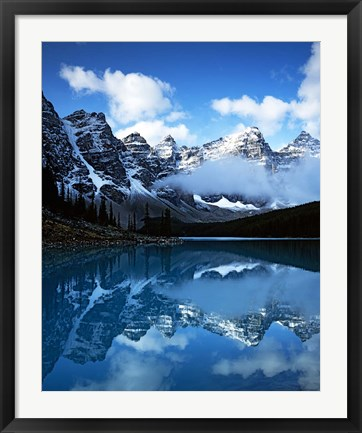 Framed Valley of Ten Peaks, Lake Moraine, Banff National Park, Alberta, Canada Print