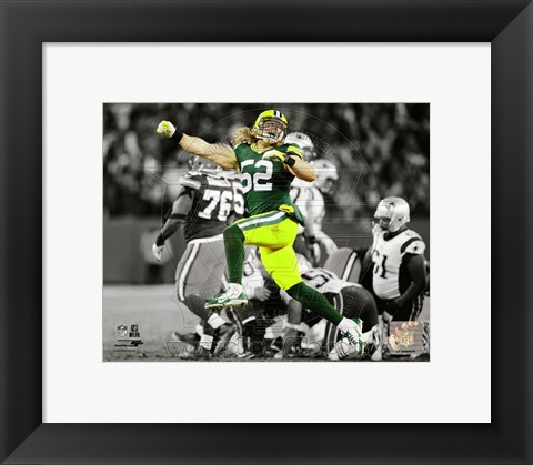 Framed Clay Matthews 2014 Spotlight Action Print