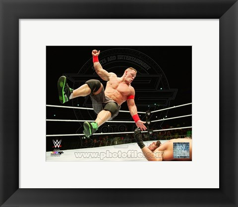 Framed John Cena 2014 Action Print