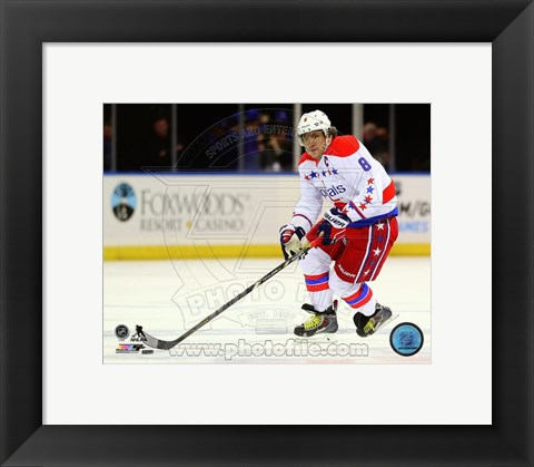 Framed Alex Ovechkin 2014-15 Action Print