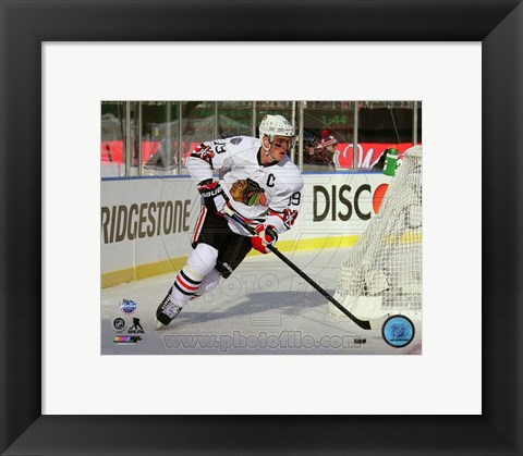 Framed Jonathan Toews 2015 NHL Winter Classic Action Print